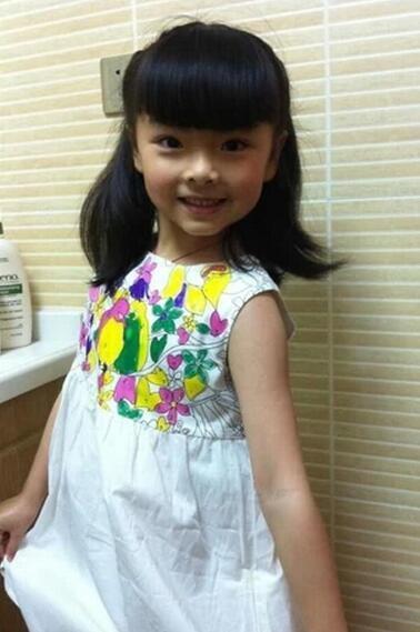 2-6 anni Giubbotto per bambina da bambina Dreess per bambini Sviluppa un abito intellettuale Vestito dipinto a mano bambino Vestito estivo Abbigliamento di marca