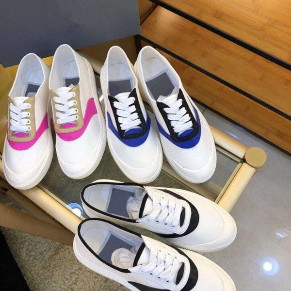 Luxury 2019 Spring Lazy Shoes Women's Casual Four Seasons Designer Brand Shoes Wild Martin Canvas Sheepskin Mix and Match Fashion