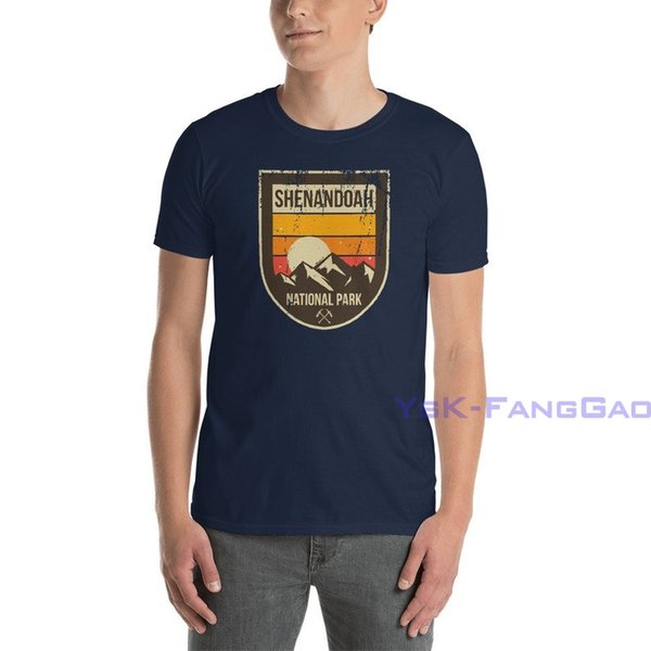 Retro Shenandoah Unisex t-Shirt Virginia Nationalpark Blue Ridge Mountains Vintage-Shirts für Männer und Frauen Camping