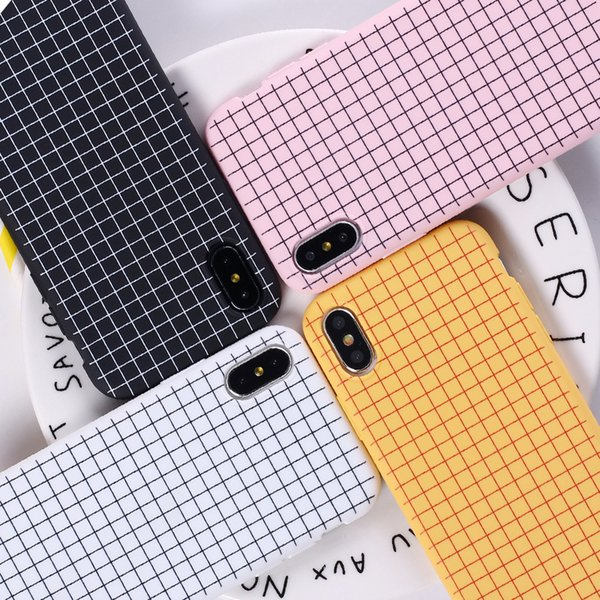 For Iphone 11 Pro Xs Max Xr Square Line Phone Case 6 7 8 X Plus Simple Elegant Multicolor Soft Cell Phone Cases
