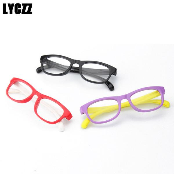 LYCZZ Children Girl Boy Eyeglasses Retro Optical Reading Spectacle Eye Glass Frame Elastic Glasses Leg prescription eyewear