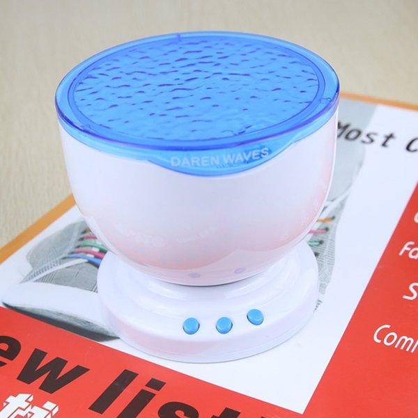 BRELONG Jiawen Ocean Sea Waves LED Night Light Projector Speaker Lamp,Christmas gift Free shipping Blue