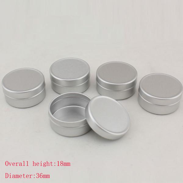 50pcs/lot 10g Aluminum Cosmetic Jar Cream Empty Bottle Cream Containers Jars Aluminum Pill Box Small Aluminum Pill Containers