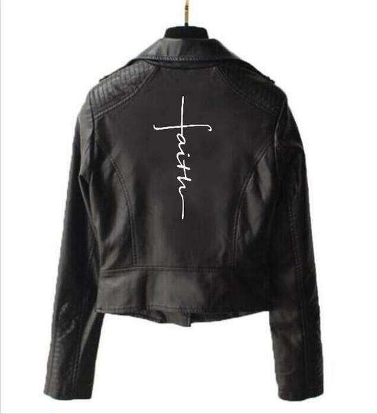 Yeni ceket kadın kısa uzun kollu inanç deri ceket fermuar deri punk motosiklet İnanç spor gömlek