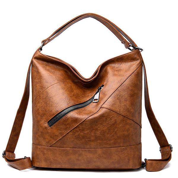 a8666329bc7c 2019 Женские сумки Дизайнеры Мягкие кожаные сумки Pu Женские винтажные  большие женские сумки Sac Основной модный