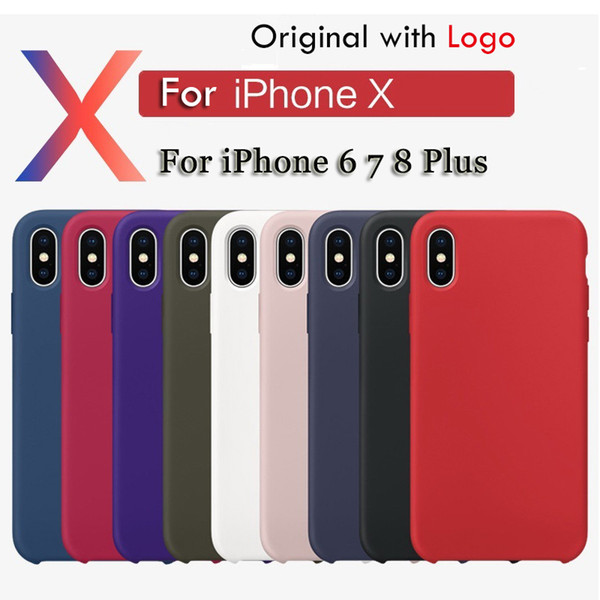 Custodia in silicone originale con LOGO per iPhone XR XS MAX 7 8 Plus 6 6 Custodia in silicone per iPhone