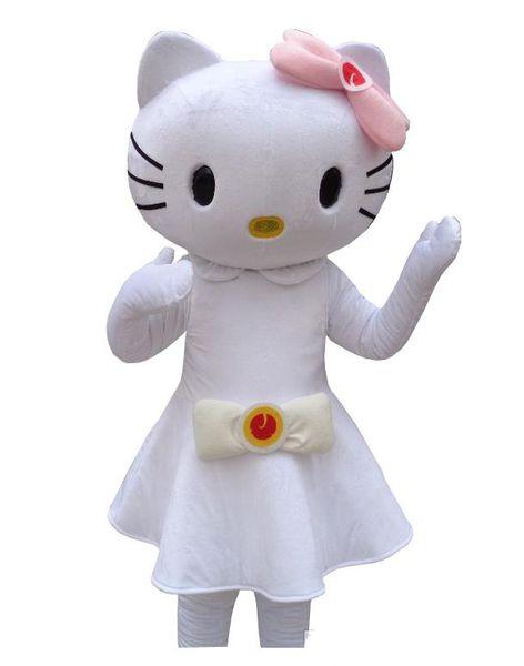 NewMascot Costume Cute kitty Halloween Christmas Birthday Character Costume Dress Animal White cat Mascot Envío Gratis
