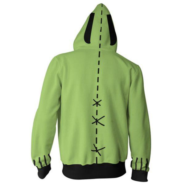 Invader ZIM 3D Printed Hoodie Sweatshirt Cosplay Costume Zipper Jacket Sweater