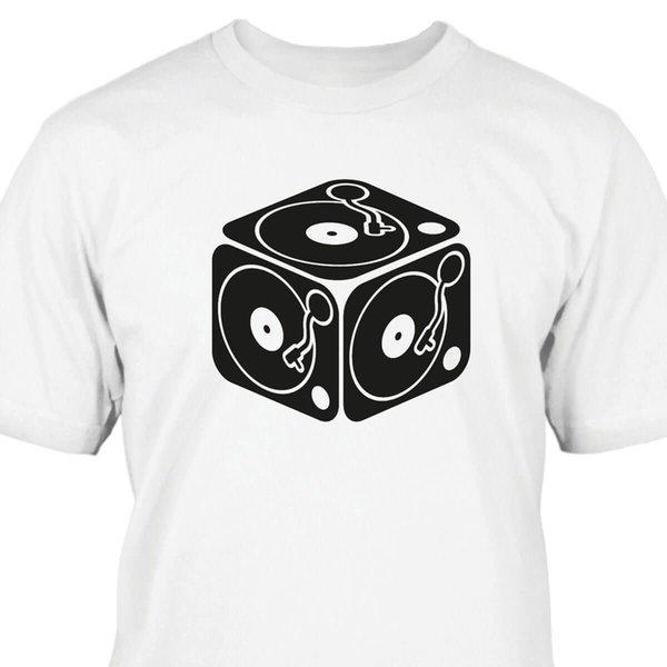 Plattenspieler Würfel T-ShirtFunny livraison gratuite Unisexe Casual Tshirt