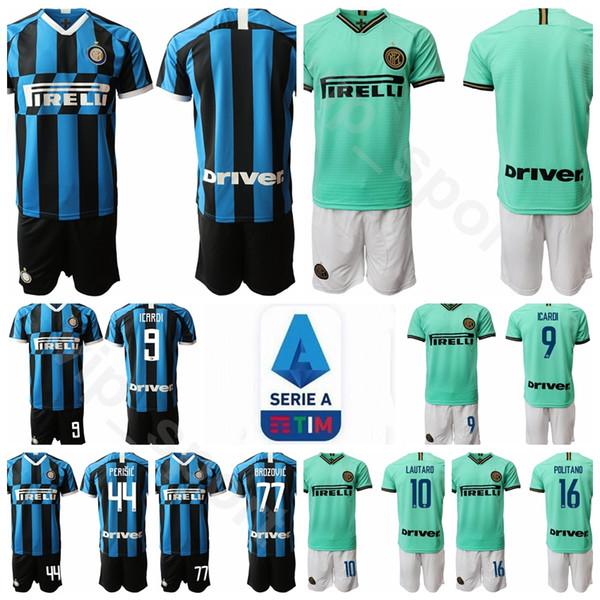 purchase cheap 3519b 26b99 2019 19 20 Inter Soccer Milan 9 Romelu Lukaku Mauro Icardi Jersey Set 16  Matteo Politano 77 Marcelo Brozovic SKRINIAR Football Shirt Kits Uniform  From ...
