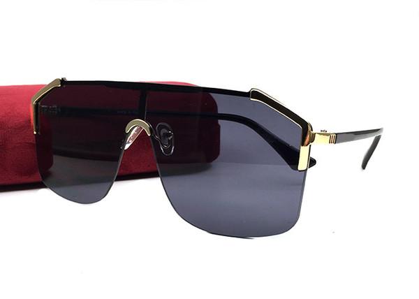 Lujo 0291 gafas de sol para hombres mujeres diseñador de la marca Wrap medio marco de recubrimiento lente lente de fibra de carbono Uv400 protección al aire libre gafas