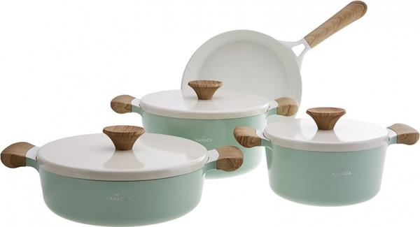 best selling Karaca Khan Venus Green 7 Piece Cookware Set Ship from Turkey HB-001639799