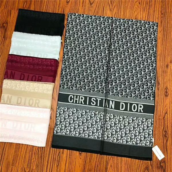 Brand scarf high-quality soft silk and cotton designer scarf classic letter women scarf 180*70cm Paragraph 2019 best-selling