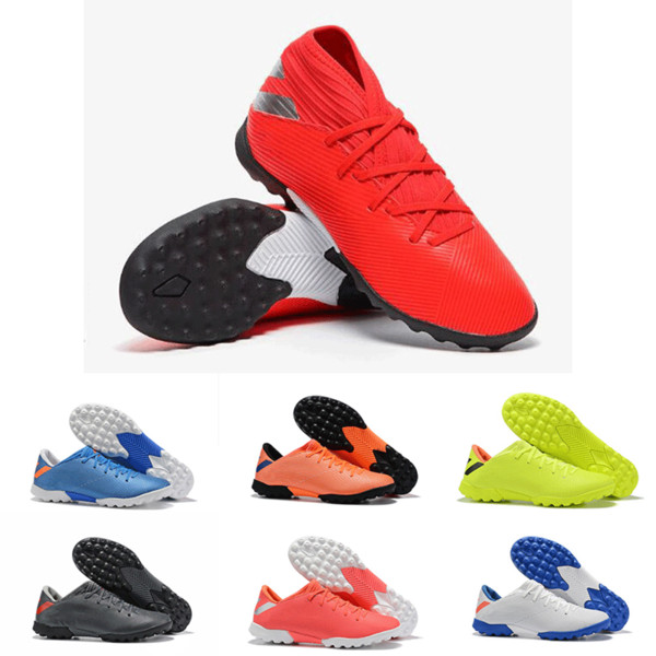 2019 New Arrival Original Mens Nemeziz 19.1 19.2 TF Football Shoes For Cheap High Quality Black Pink Red Sports Indoor Soccer Cleats