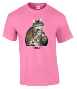 T-Shirt mamma gattino gatto gattino