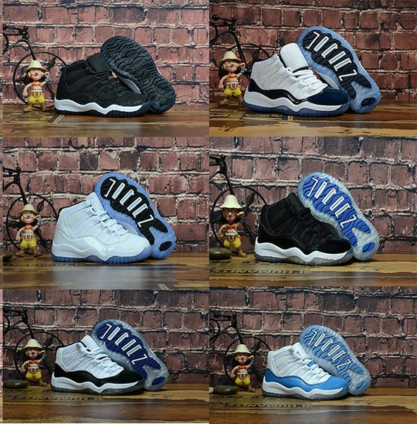 Boy 11s Prom Night Gym Rosso Midnight Navy Nero Stingray Bred Concord Space Jam Shoes 11s Ragazzi Ragazze Bambini Basketball Sneaker