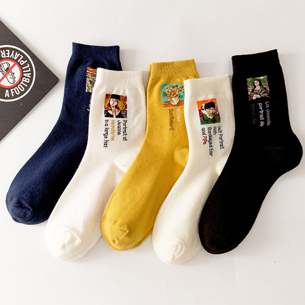 Wholesale Fashion Women Cotton Socks cartoon painting Anklet Socks leisure female Korea style socks
