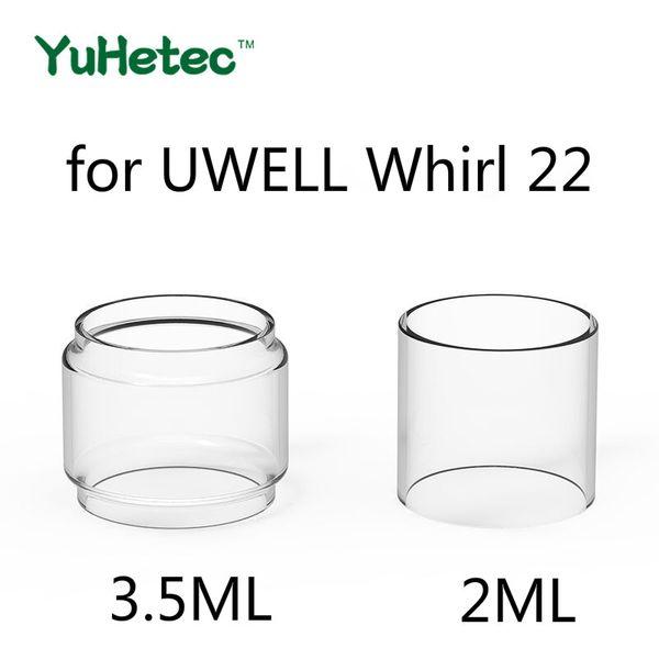 5 UNID TUBO de vidrio de reemplazo original de YUHETEC para UWELL Whirl 22 2ml / 3.5ml Tank