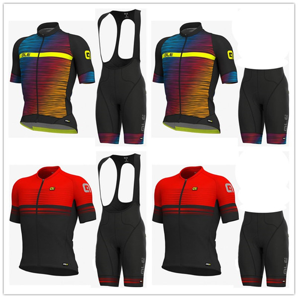 ALE 2019 new Cycling Jersey Short Sleeve Bicycle Sportswear Ropa Ciclismo Men MTB Jersey & (Bib) Shorts Set Bicicleta Clothing
