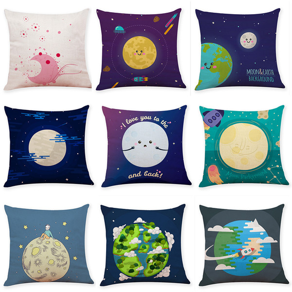 Best selling star painted cotton and Pillow Case Covers Soft Christmas Pillow Cases Throw Pillow Cover Decorative for Sofa Bed Car