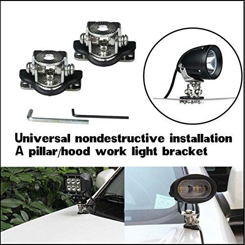 for lada 4x4 suv boat truck universal car 4x4 accessories a pillar hood led work light bar mount bracket clamp holder offroad