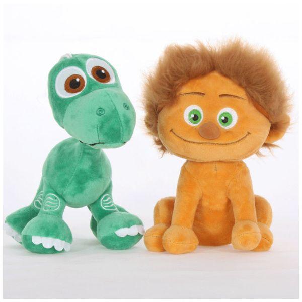 22 CM Nueva Llegada The Good Dinosaur Peluches Pixar Película 3D Caveboy Spot y Arlo Brontosaur Stuffed Animals Juguetes para niños C5