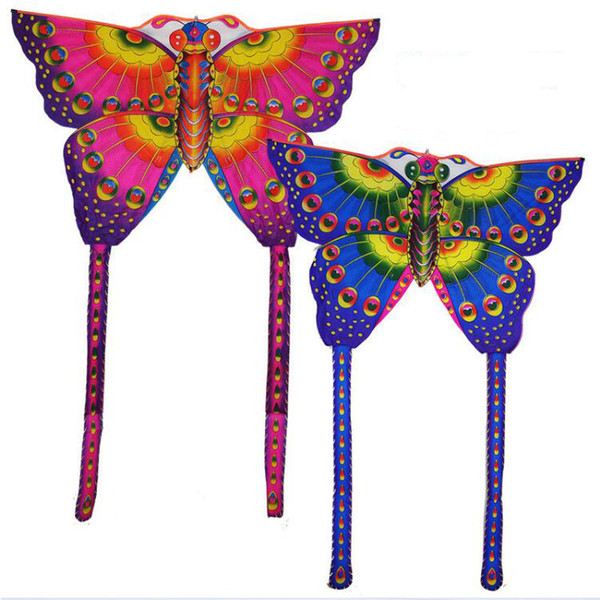 150cmx200cm Outdoor Butterfly Foldable Children Kite Easy To Fly Chemical Fiber Cloth Red Blue Gift Funny Sport Playing Toys