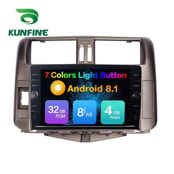 Octa Core 4GB RAM 64GB ROM Android 8.1 Car DVD GPS Player Deckless Car Stereo For Toyota LandCruiser Prado 2010-2013 Radio Headunit Device