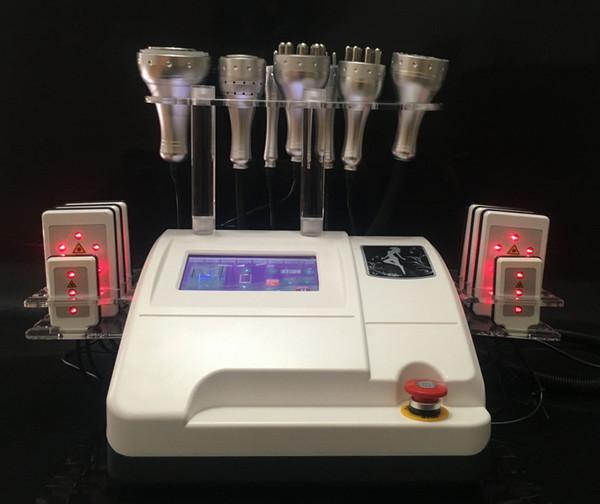 8 IN 1 40K Ultrasonic Liposuction Slimming Machine 8 Pads Lipo Laser Vacuum Cavitation RF Multipolar RF Radio Frequency Machine