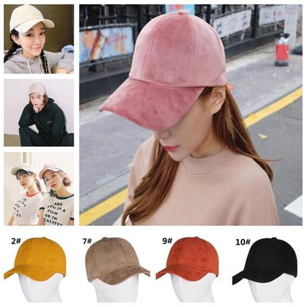 100pcs Baseball Caps Hats Hip-hop Snapback Flat Hats New Suede Candy Color Sun Protective Basketball Hats Cap Gifts J164