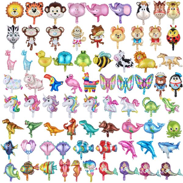 best selling Multi-style inflatable cartoon animals Mermaid fish party ballons decorations Aluminum film balloon toys supplies Z0771
