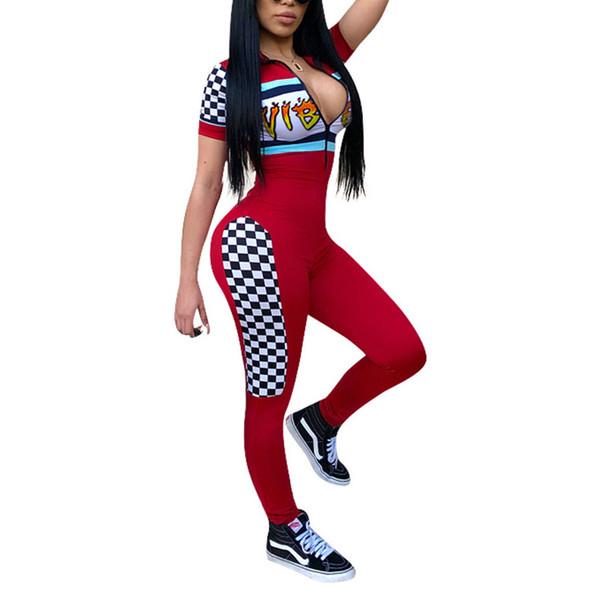 Adult long sleeve long pant slim Romper Jogger Sweatpants Skinny Leg bodysuit Back Zipper Up Lady Womens Jumpsuits