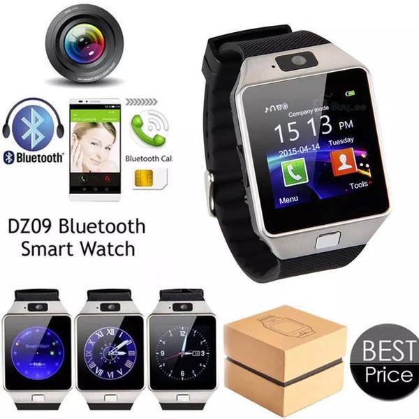 Dz09 smart watch dz09 relógios pulseira android assista smart sim inteligente do telefone móvel sono estado smart watch pacote de varejo