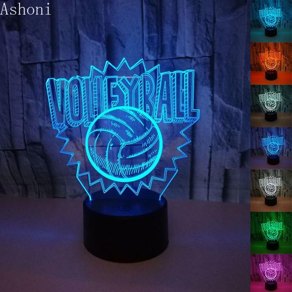 3D NUOVA lampada da tavolo a forma di pallavolo USB 7 colori Luci a LED Decorazioni per la casa Lampara Camera da letto Comodino Baby Sleeping Nightlight Gifts