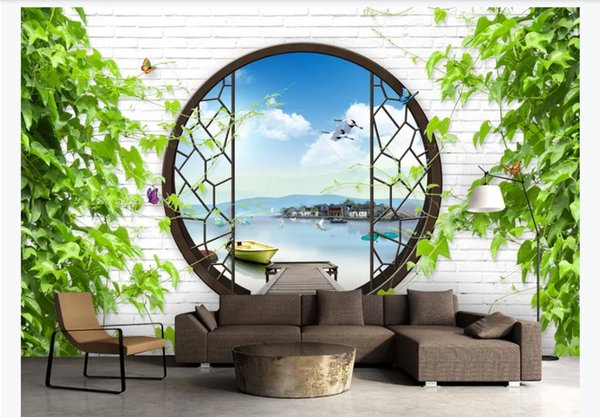 Customized 3D large silk photo mural wallpaper New Chinese classical style landscape painting 3D TV sofa background wall paper for walls 3d