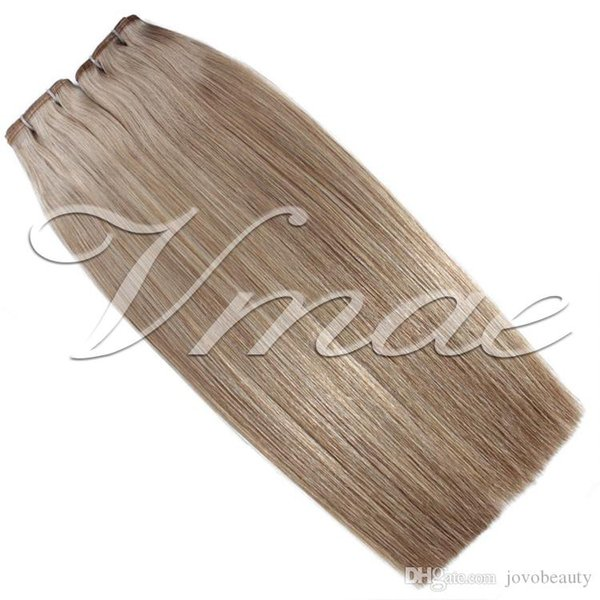 Brazilian Buckle Tape Hair Extensions Single Drawn 100g 20Pcs Natural Color 613# Stright Virgin Unprocessed Human Hair Weft Vmae Hair
