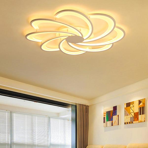 Großhandel Kreative Blumen Led Deckenleuchten Für Wohnzimmer Lichter Bett  Zimmer Hause Beleuchtung Led Lampe Lampara Techo Deckenleuchte Leuchten Von  ...