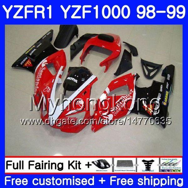Bodywork For YAMAHA YZF R 1 YZF1000 Santander red YZF-R1 1998 1999 Frame 235HM.43 YZF-1000 YZF R1 98 99 YZF 1000 YZFR1 98 99 Body Fairing
