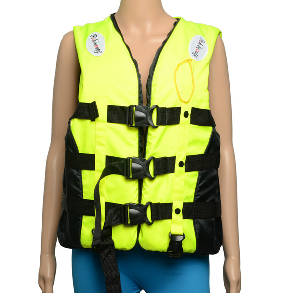 J04 Polyester Foam Life Jacket with Whistle Size L Green & Black