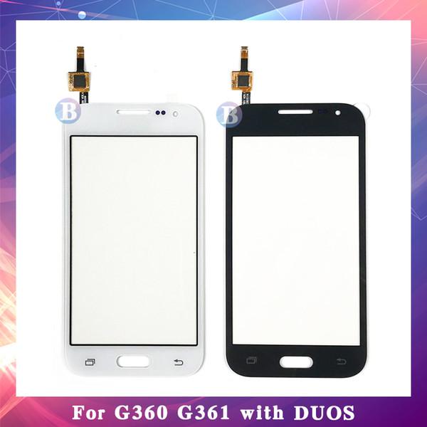 50 Unids Para Samsung Galaxy DUOS Core G360H G360H G3608 G361 G361F G361H Pantalla Táctil Digitalizador Sensor Panel de Lentes de Cristal