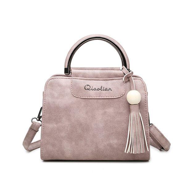good quality 2019 New Women Handbag Simple Fashion Flap Trend Tassel Solid Color Woman Messenger Bag Korean Version Shoulder Bag