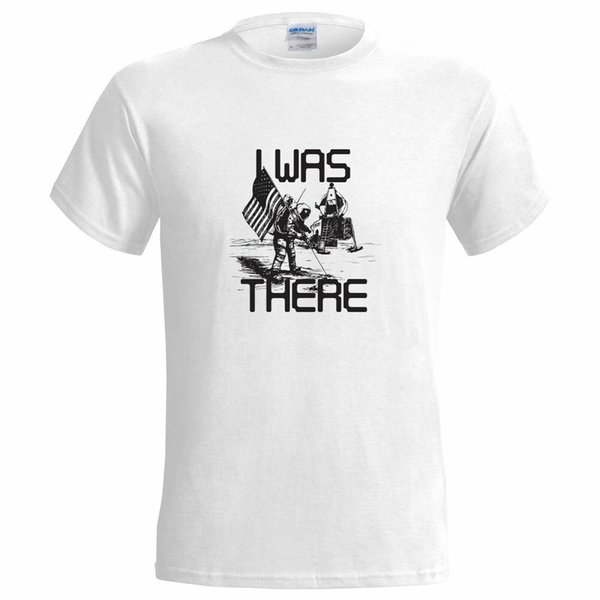 I Was There Moon Landing Funny MENS T SHIRT astronauta spaziale sul pianeta apollo