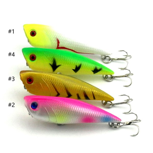 Popper fishing lure 4 colors 7cm 7.7g Artificial plastic Hard Lure Float Baits Surface top water Bass Pesca PO008