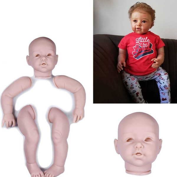 wholesale big size 29inch silicone baby dolls kit set Parts Accessory Large Toddler Reborn Kit Full vinyl arms legs 74cm Artist Mould