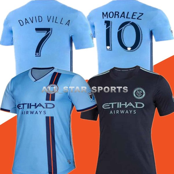 2019 New York City soccer jersey home away 19 20 MLS LAMPARD 8 PIRLO 21 MCNAMARA MORALEZ DAVID VILLA 7 football shirts wholesale