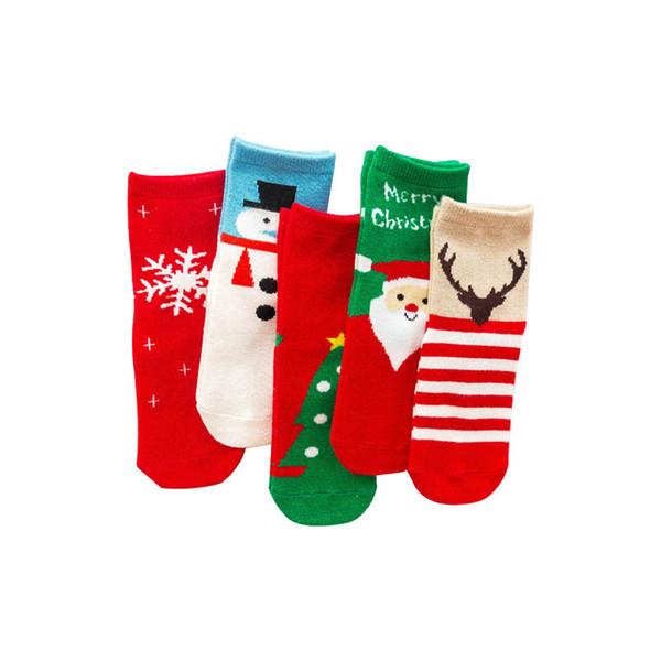 Automne Hiver Noël Enfants Chaussettes Cartoon bébé Chaussettes Filles Coton Chaussettes Garçons Sock cadeau enfants Socquettes enfants Sock enfants cadeau A8588