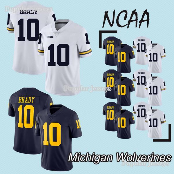 online store 2ae5f d2375 2019 NCAA Michigan Wolverines Jerseys 10 Tom Brady Jersey College Football  Jerseys Hot Sale Jersey 2019 New 100% Stitched From Jpseph_sports_jersey,  ...