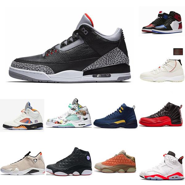 Mens 1s 3s 4s 5s 6s 11s 12s 13s 14s Carmine Classic UNC Black White Infrared Men Sport Blue Red Oreo Alternate Basketball Shoes Sneakers