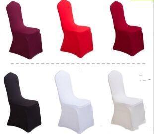 Universal blanco negro poliéster Spandex fundas para sillas de boda para bodas banquete plegable decoración del hotel decoración