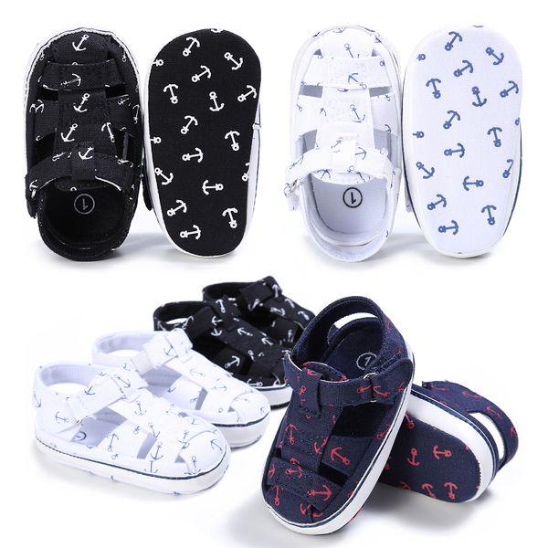 Baby Boys Kids First Walkers Shoes Newborn Infant Toddler Hook Loop Soft Sole Moccasins Summer Beach Shoe Prewalkers Footwear